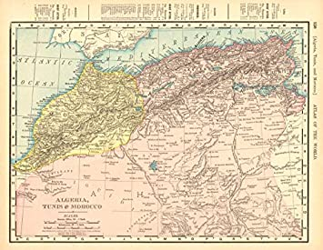 Amazon.com: Algeria, Tunisia & Morocco. Sahara Desert. North ... on arabian desert on a map, libyan desert on a map, alps on a map, amazon rainforest on a map, climate on a map, great sandy desert on a map, nile river on a map, thar desert on a map, atlas mountains map, great rift valley on a map, gobi desert on map, sonoran desert on a map, namib desert on a map, sinai peninsula on a map, atacama desert on a map, kalahari desert on a map, siberia on a map, nubian desert on a map, sahel on a map, suez canal on a map,