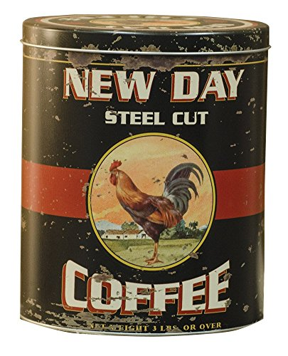 Vintage Coffee Tin with Antique Rooster