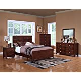 New Classic 00-131-15N Ridgecrest 5-Piece Bedroom Set Eastern King Storage Bed, Dresser, Mirror, Two Nightstands, Distressed Walnut