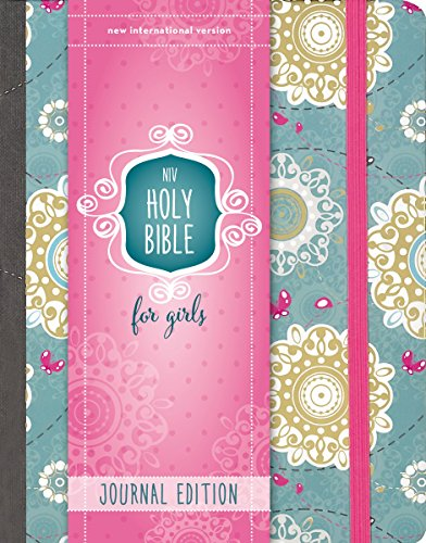 NIV, Holy Bible for Girls, Journal Edition, Hardcover, Teal/Gold, Elastic Closure