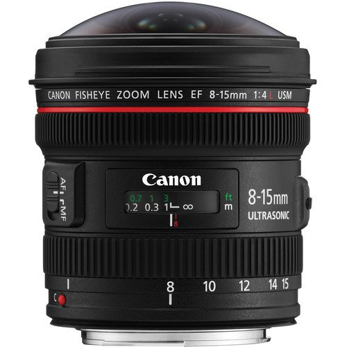 (Canon EF 8-15mm f/4L Fisheye USM Ultra-Wide Zoom Lens for Canon EOS SLR Cameras International Version (No warranty))