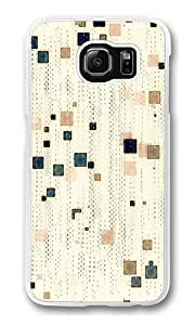 Abstract Patterns White Background Polycarbonate Hard Case Cover for Samsung S6/Samsung Galaxy S6 Transparent