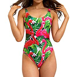 AVVA Tummy Control One Piece Swimsuits for Women – Sexy Bathing Suits with Slimming High Waist