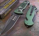 Tac-force Green Zombie Hunter Glass Breaker Rescue Knife