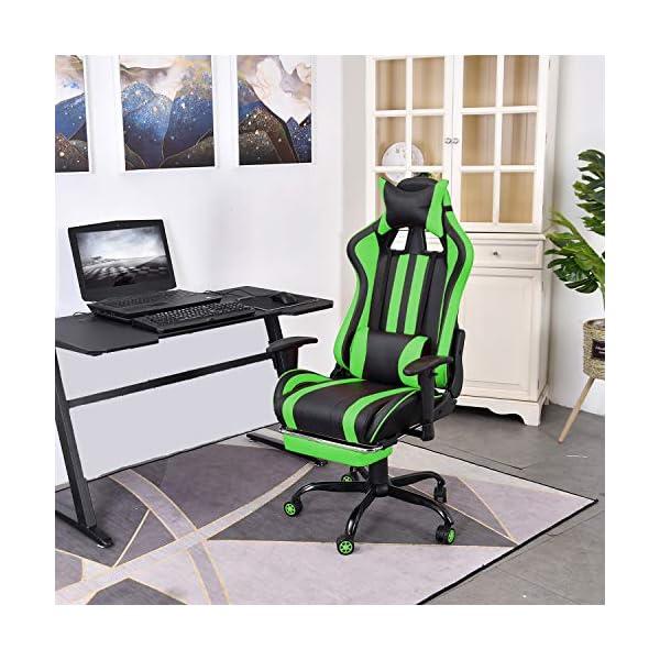 Soontrans St Chaise de Gaming Ergonomique Fauteuil Gamer Dossier Hauteur Réglable en Cuir PU Fauteuil de Bureau Racing…