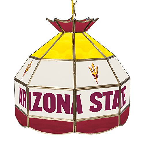 University Stained 16 Glass (Trademark Arizona State University Stained Glass 16 Inch Tiffany Lamp)