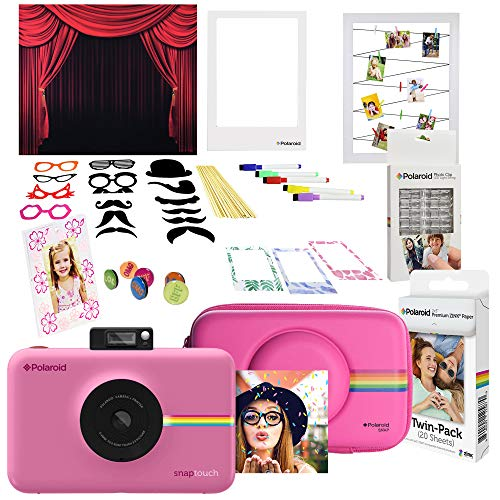 Polaroid Snap Touch Instant Digital Camera (Pink) Photo Booth Kit with Accessories -