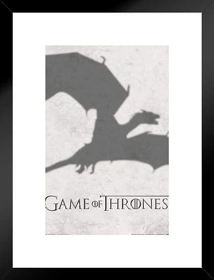 Amazon.com: Pyramid America Game Thrones Dragon Shadow Logo Matted ...
