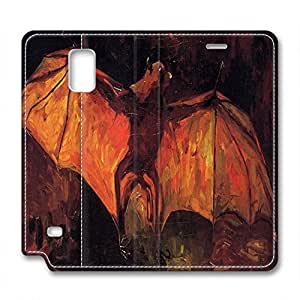 Vincent Van Gogh Design Samsung Note 4 Leather Case Bat