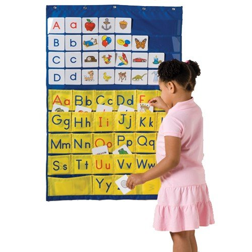 (Constructive Playthings Alphabet Pocket Chart with 156 Picture Cards, 52 Uppercase and Lowercase Letters and 6 Blank Cards)
