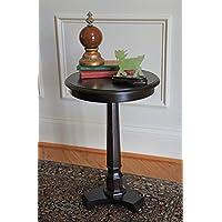 Carolina Accents Column Side Table, Espresso