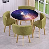 iPrint Round Table/Wall/Floor Decal Strikers,Removable,Stars in Sky Supernova Comet Constellation Light Years Meteor Planetary Image,for Living Room,Kitchens,Office Decoration
