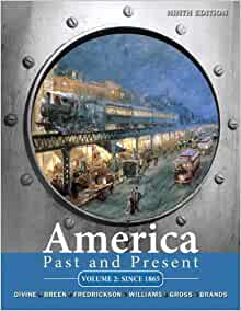 Amazon america past and present volume 2 9th edition amazon america past and present volume 2 9th edition 9780205699957 robert a divine t h breen george m fredrickson deceased r hal williams fandeluxe Image collections