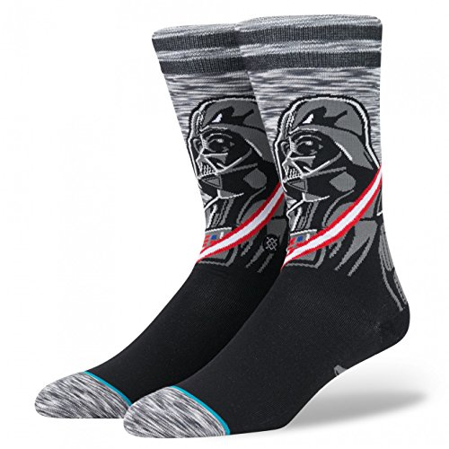 Stance M545D17DAR Men's Darkside Socks, Grey - M (6-8.5)