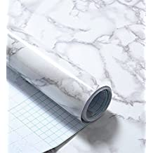 Grey Granite Look Marble Gloss Film Vinyl Self Adhesive Counter Top Contact Paper Peel and Stick Wall Decal (24''x79')