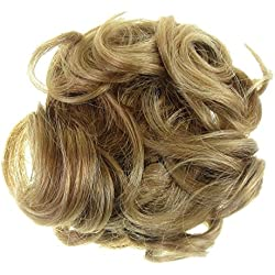 New Style Hair Extensions Curly Messy Drawstring Updo Full Bun Strawberry Blo... Synthetic