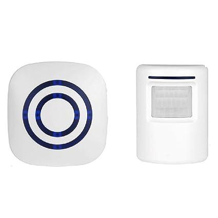 Inalámbrico entrada alerta, Transer detector de sensor de movimiento inalámbrico timbre puerta entrada bienvenida timbre