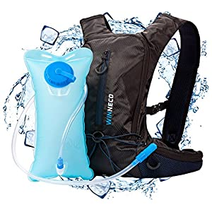 Hydration Pack for Running, Walking, Hiking, Biking - 50 oz / 1.5L Backpack Water Bladder - Lightweight Running Gear - For Women, Men, Kids