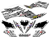 Senge Graphics All Years Kawasaki KFX 700, Shredder White Graphics Kit
