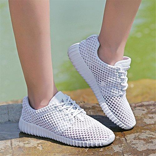 FZDX KS1611 Deportes de para Hombres de Malla Transpirable Zapatos Ligera Ligera WHITE Malla FAr6wxFqn