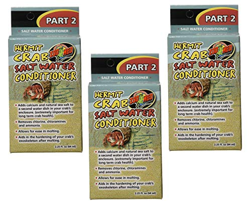 ((3 Pack) Zoo Med Hermit Crab Salt Water Conditioner, 2.25-Ounce Each)