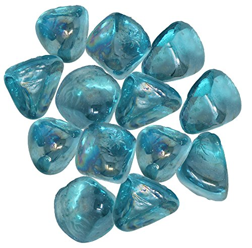 Distinctive Glass Jewel Gems for Vase Filler, Table Scatter or other Beautiful Accents (2.2 Pounds, Aquamarine) by Panoramic Decorative Accents