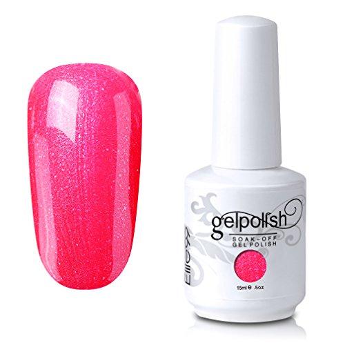 Elite99 Soak-Off UV LED Gel Polish Nail Art Manicure Lacquer Pearl Calypso Coral 385 15ml