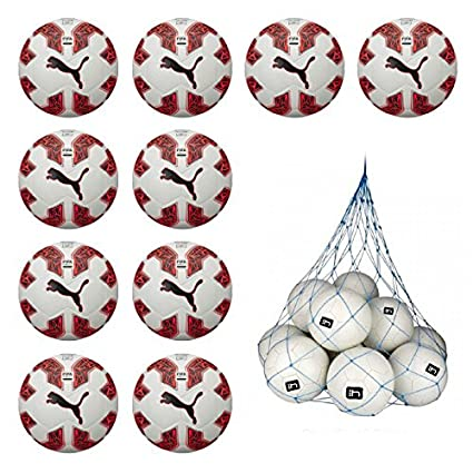 ad71e9b4260a 10x Puma evoSPEED 2.5 Hybrid Football 10 Ball Pack with Ball Net   Amazon.co.uk  Sports   Outdoors