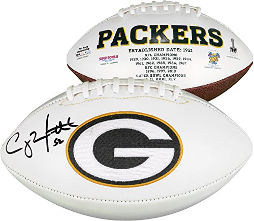 (Clay Matthews Green Bay Packers Autographed White Panel Football - Fanatics Authentic Certified - Autographed Footballs)