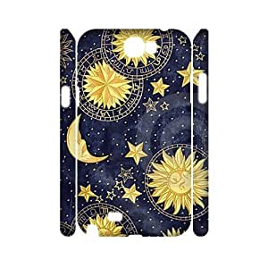 Custom New Case for Samsung Galaxy Note 2 N7100 3D, Sun Moon Space Nebula Phone Case - HL-513997