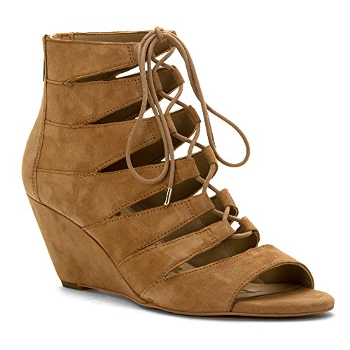 Sam Edelman Women's Santina Wedge Sandal, Oatmeal, 9.5 M US (Edelman Suede Wedges)