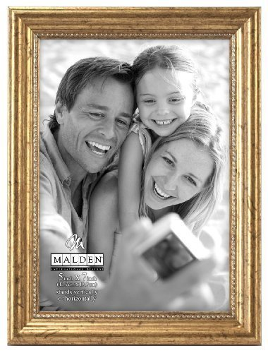 Malden International Designs Classic Wood Picture Frame, 5 b