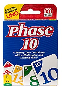 From the makers of UNO comes a rummy-type card game with a challenging and exciting twist! The object of the game is to be the first player to complete 10 varied Phases-two sets of three, one run of seven, seven cards of one color and more. The twist...