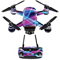 Skin for DJI Spark Mini Drone Combo - Light Waves| MightySkins Protective, Durable, and Unique Vinyl Decal wrap cover | Easy To Apply, Remove, and Change Styles | Made in the USA