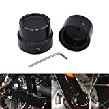 KaTur Black CNC Aluminum RC Front+Rear Axle Cover Cap Nut Bolt Kit for Harley Sportster XL 883 1200 Dyna Touring V-Rod Softai Glide