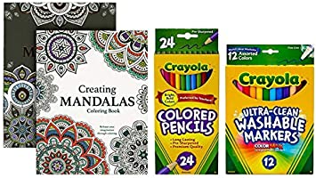 Crayola Adult Coloring Dual-Ended Colored Pencils 12 CT 24 Colors