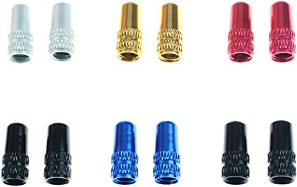 Presta Valve Caps Anodised Alloy Dust Cover Pair BEST PRICE ON  Black or Red