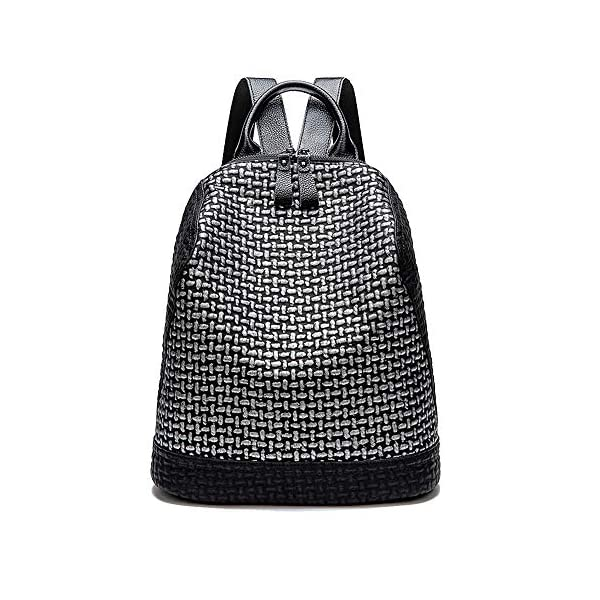 Coolives Sac à main porté dos pour Femme Adolescent Fille Sac à dos loisir En Forme de Coquille Noir