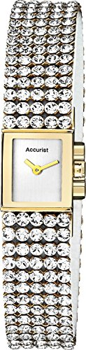 Accurist LB1503 Ladies Two Tone Stone Charmed Bracelet Watch
