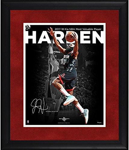 Sports Memorabilia James Harden Houston Rockets Framed 11