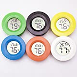 Mini Electronic Thermometer Round Digital Hygrometer Battery Measures Temperature Humidity (Random Color)