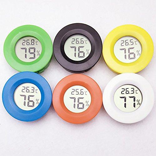 1 x tragbares Mini-Digital-Thermometer für den Innenbereich, mit Temperatursensor, Feuchtigkeitsmesser für Reptilien, Tierthermometer, Hygrometer SQUAREDO