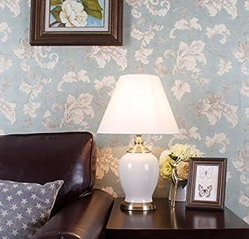 Tischleuchte Keramik Tischlampe American Continental Schlafzimmer  Nachttisch Moderne Wohnzimmer Village Retro Lampe Nachttischlampe ( Farbe :