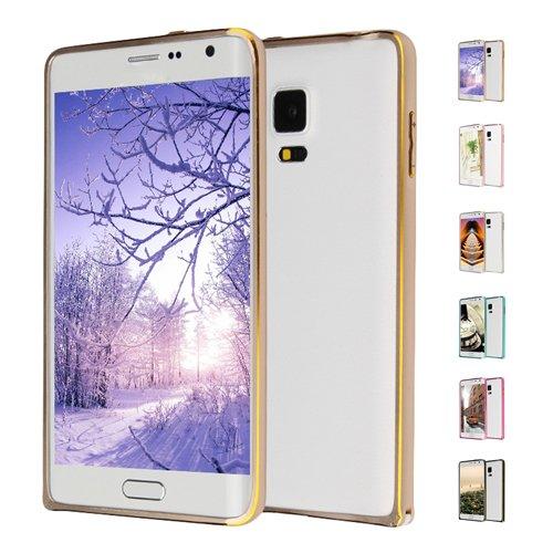 E8Q del metal de aluminio parachoques del capítulo protectora colorida cubierta de caso para Samsung Galaxy Note Edge Rosado