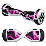 MightySkins Protective Vinyl Skin Decal for Self Balancing Scooter Board mini hover 2 wheel x1 razor wrap cover sticker Pink Flames