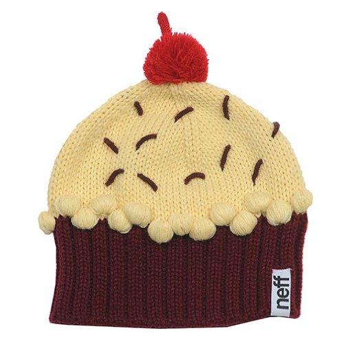 ( Neff Women's Cupcake Beanie Hat - Red Velvet, One)