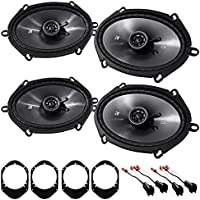 08-10 Ford F-250/350/450/550 Kicker 6x8 Front+Rear Speaker Replacement Kit