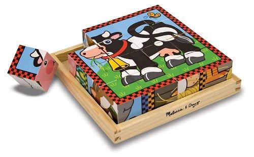 Farm Themed Cube Puzzle + FREE Melissa & Doug Scratch Art Mini-Pad Bundle [07757] ()