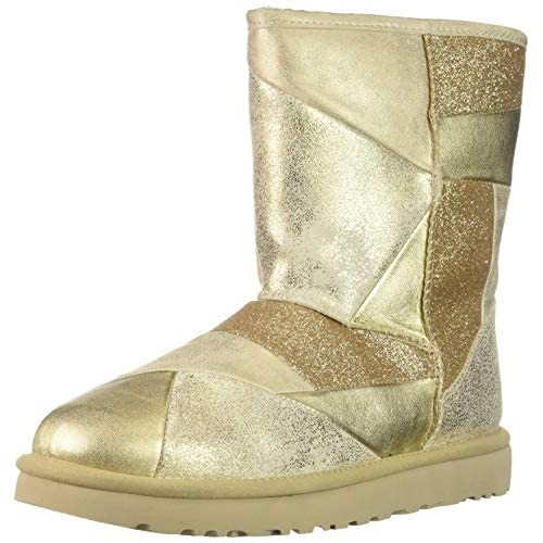 UGG Women's W Classic Glitter Patchwork Fashion Boot - 51VeeKTn7GL. SS500 - Getting Down Under Shoes
