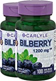 Carlyle Bilberry Extract 1200 mg 200 Capsules Review